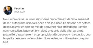 Exemple de commentaire positif